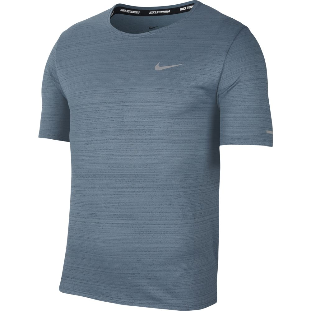Nike Men's Miler Tee Ozone Blue / Reflective Silver - achilles heel