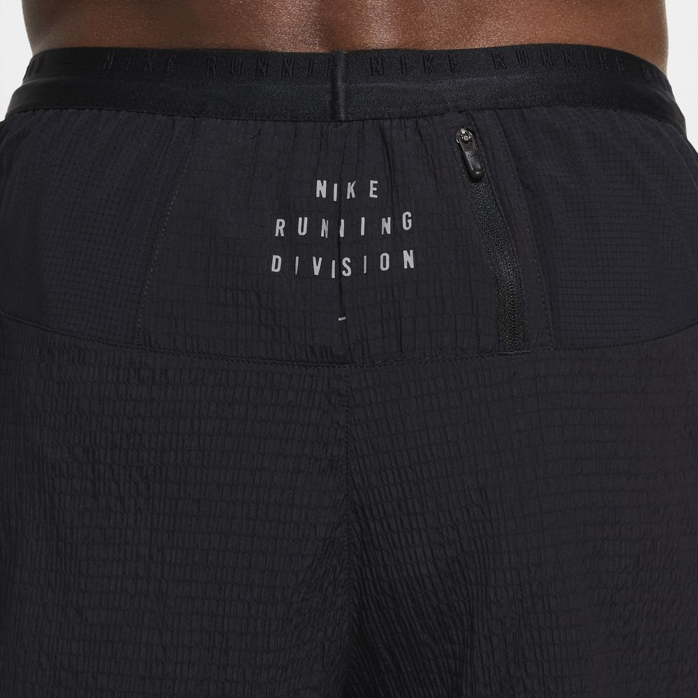 Nike Men's Run Division Flex Stride 5 Inch Shorts Black / Reflective Silver - achilles heel