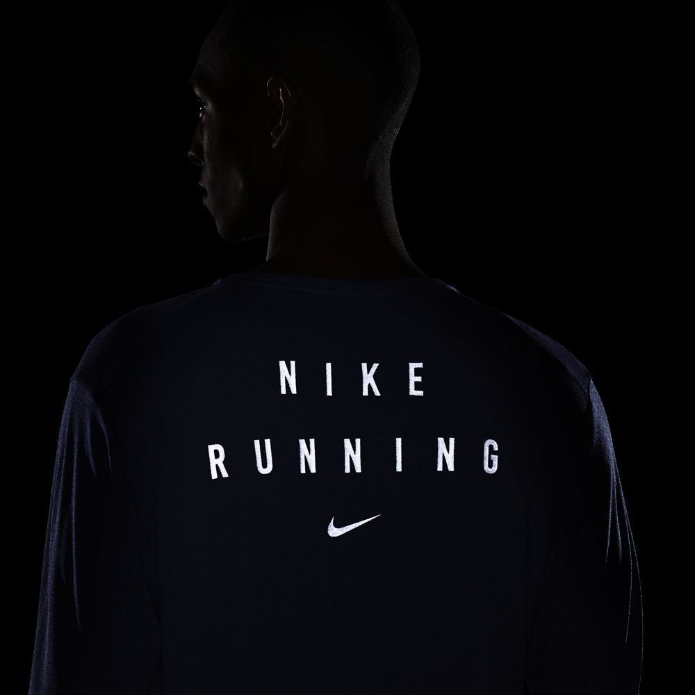 Nike Men's Run Division Miler GX Flash Top World Indigo / Reflective Silver - achilles heel