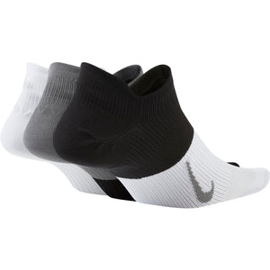 Nike Everyday Plus Lightweight No-Show Socks 3 pack Black / White / Grey - achilles heel