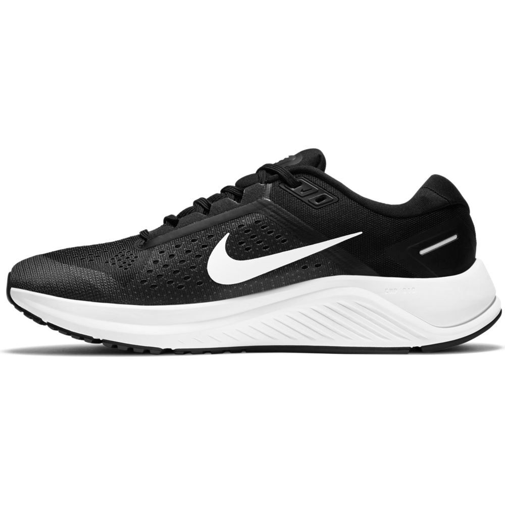 Nike Men's Air Zoom Structure 23 Running Shoes Black / White / Anthracite - achilles heel