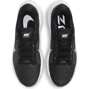 Nike Men's Air Zoom Structure 23 Running Shoes Black / Metallic Silver / Volt - achilles heel