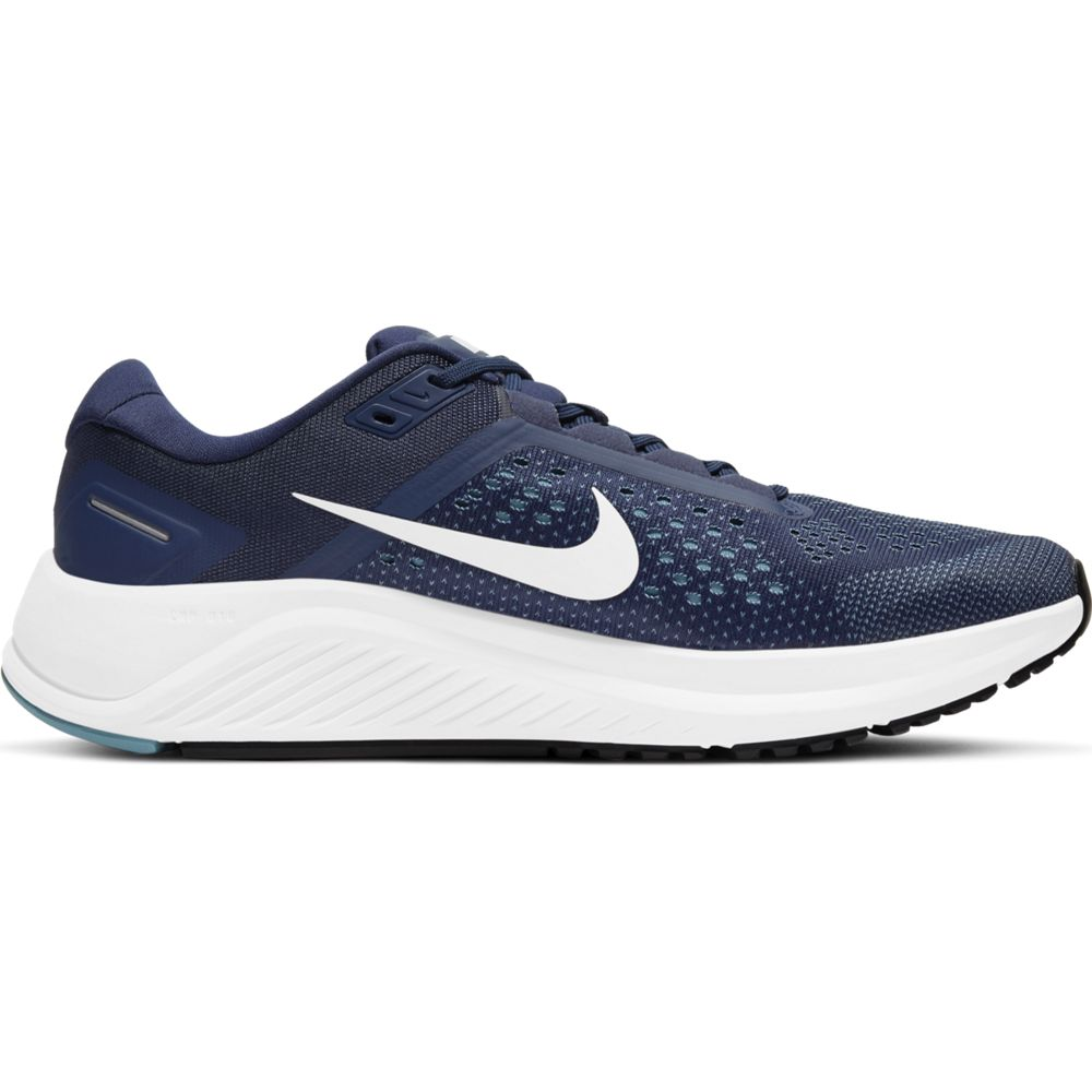 Nike Men's Air Zoom Structure 23 Running Shoes Midnight Navy / White / Cerulean - achilles heel
