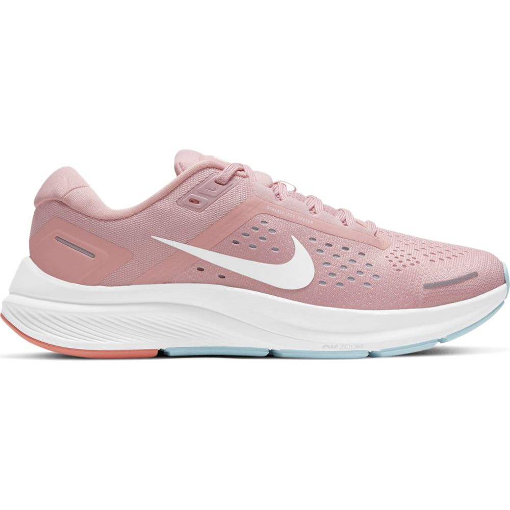 Nike Women's Air Zoom Structure 23 Running Shoes Pink Blaze / White Ocean / Cube - achilles heel
