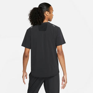 Nike Men's Dri-FIT Rise 365 Trail Tee Black / Reflective Silver - achilles heel