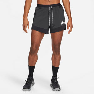 Nike Men's Trail Flex Stride 5 Inch Shorts Black / White - achilles heel