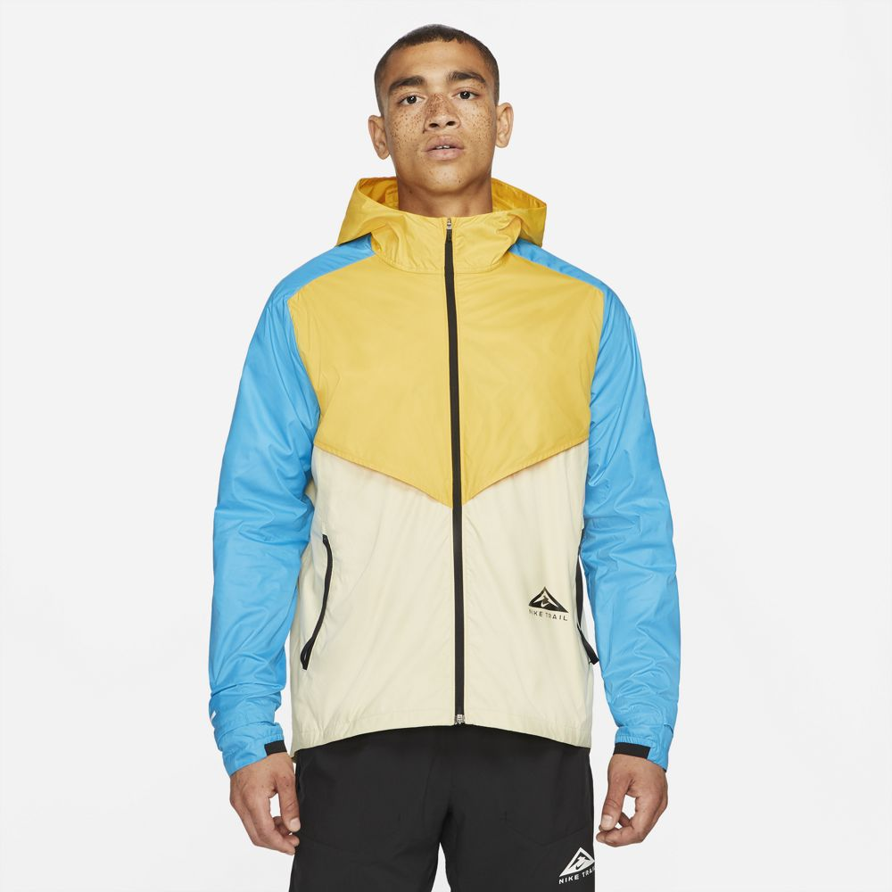 Nike Men's Windrunner Trail Jacket Solar Flare / Beach / Laser Blue / Black - achilles heel