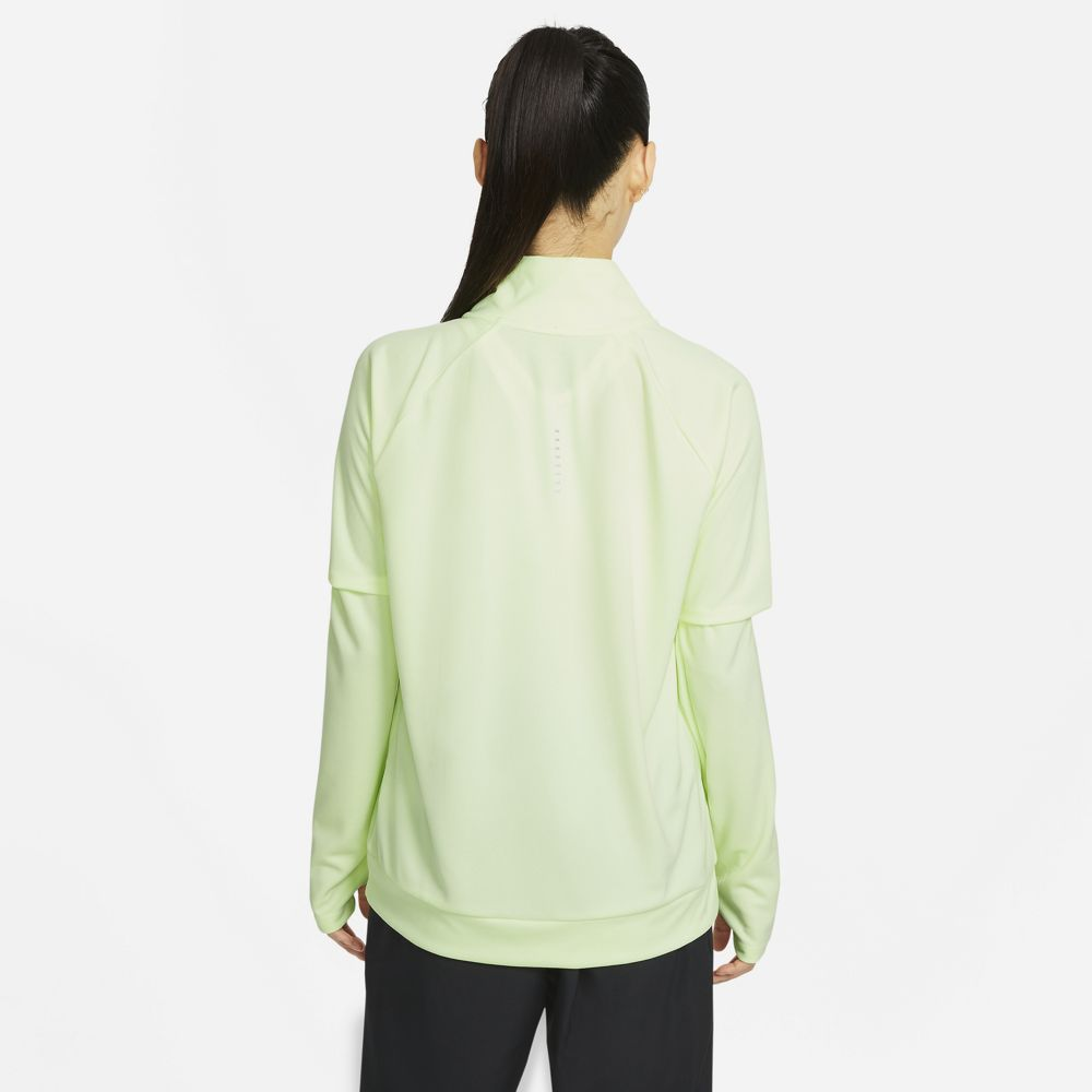 Nike Women's Swoosh Run Top Barely Volt / White - achilles heel