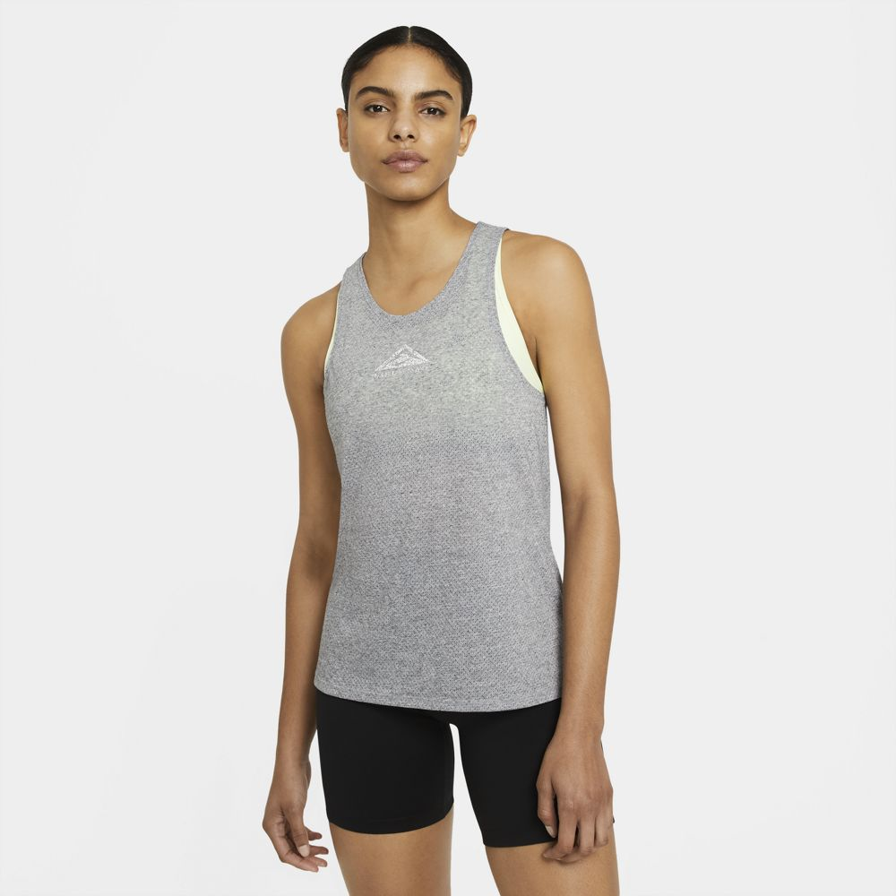 Nike Women's City Sleek Trail Tank Smoke Grey / Grey Fog / Heather - achilles heel