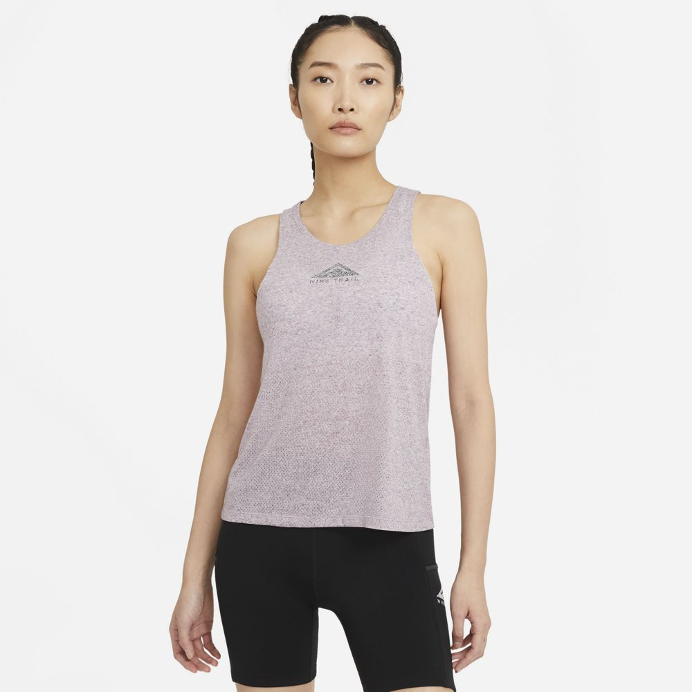 Nike Women's City Sleek Trail Tank Team Red / Iron Grey / Heather - achilles heel