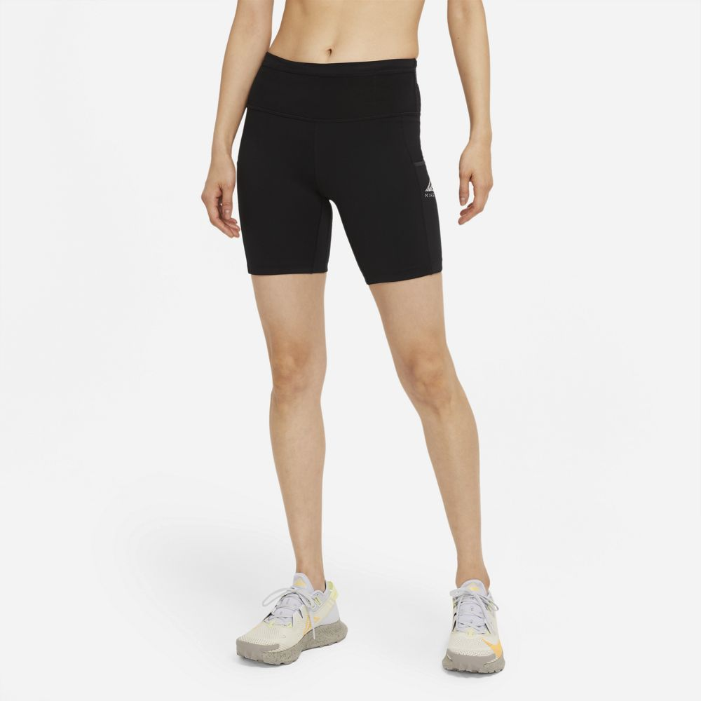 Nike Women's Epic Luxe Trail Running Tight Shorts Black / Dark Smoke Grey - achilles heel