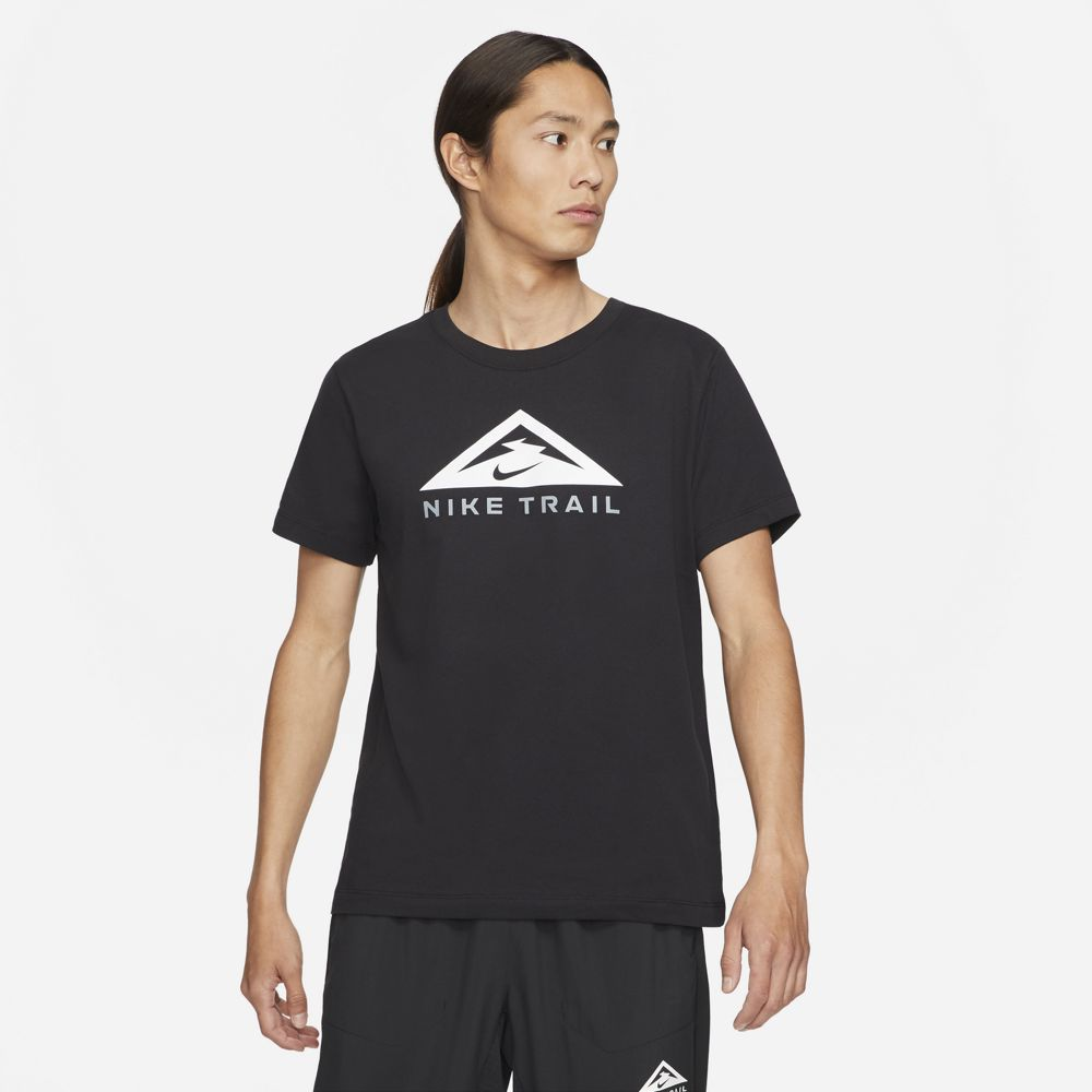 Nike Men's Dri-FIT Trail Tee Black - achilles heel
