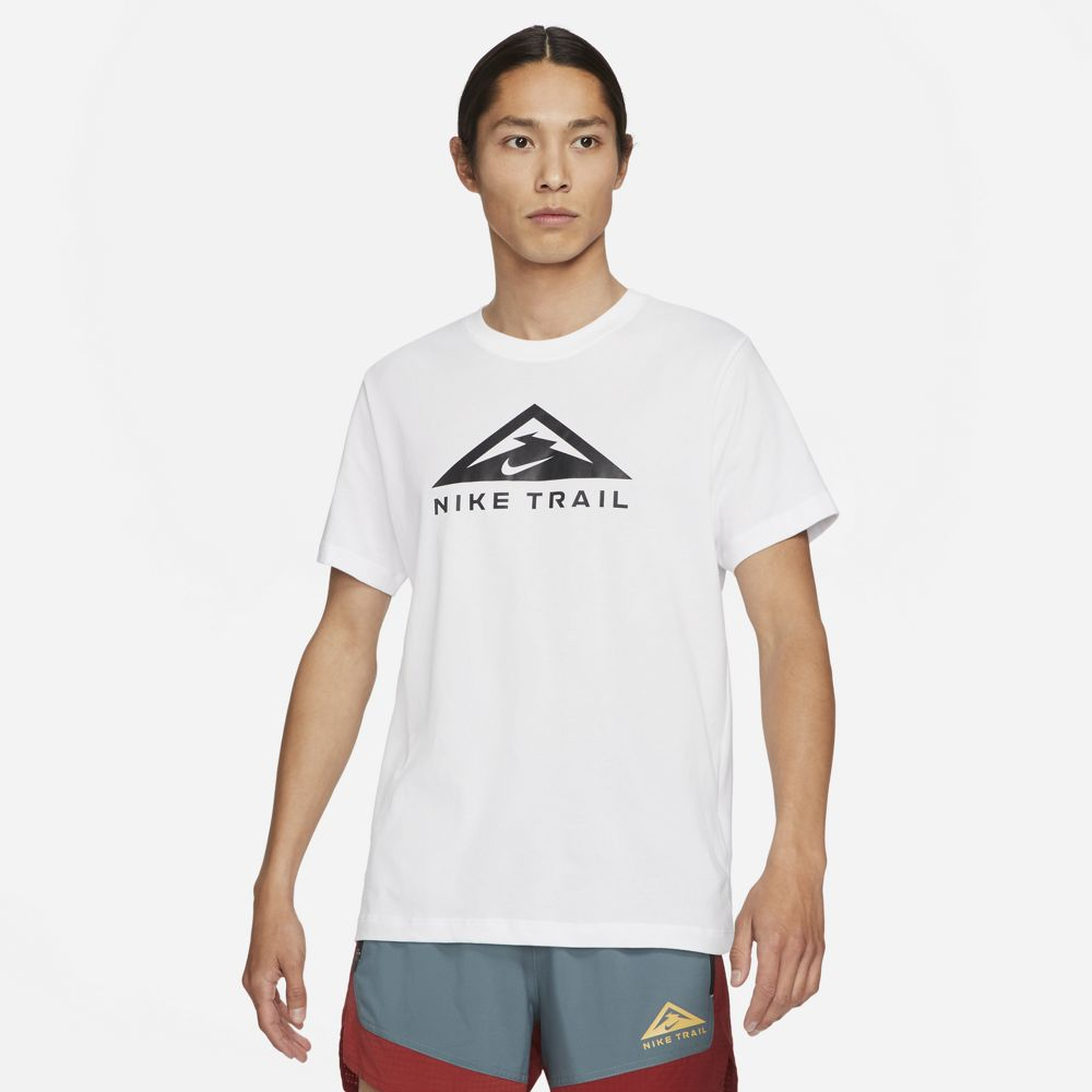 Nike Men's Dri-FIT Trail Tee White - achilles heel
