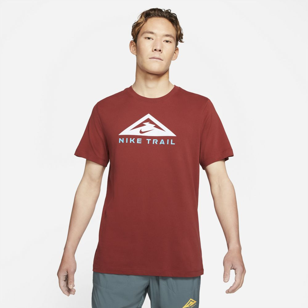Nike Men's Dri-FIT Trail Tee  Dark Cayenne - achilles heel