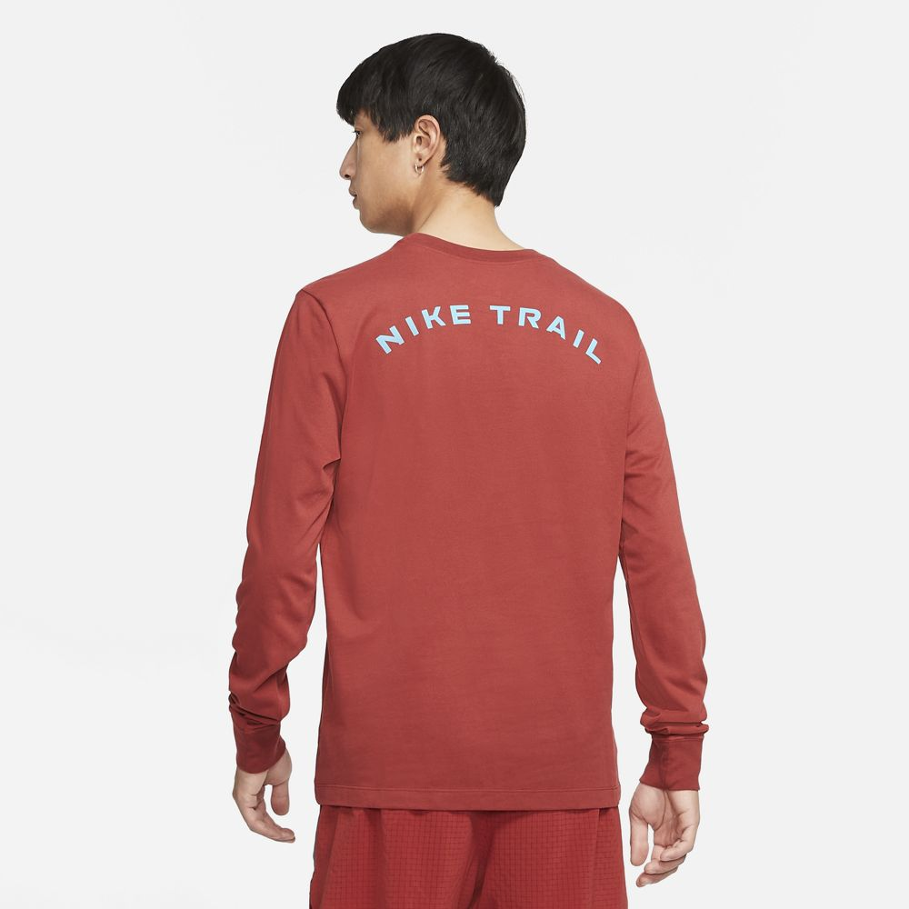 Nike Men's Dri-FIT Trail Top Dark Cayenne - achilles heel