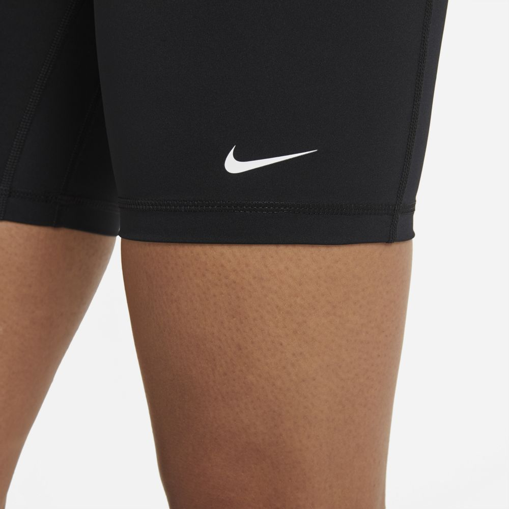Nike Women's Pro 365 7 Inch High-Rise Short Black / White - achilles heel