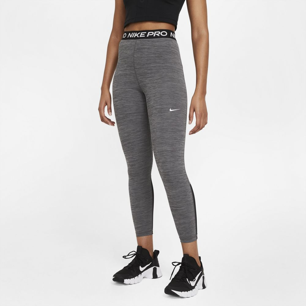 Nike Women's Pro 365 Tight Black / Heather / White - achilles heel