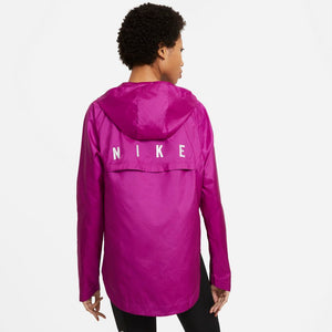 Nike Women's Run Division Essential Jacket Red Plum / Cool Grey / Reflective Silver - achilles heel