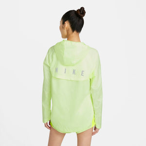 Nike Women's Run Division Essential Jacket Barely Volt / Reflective Silver - achilles heel