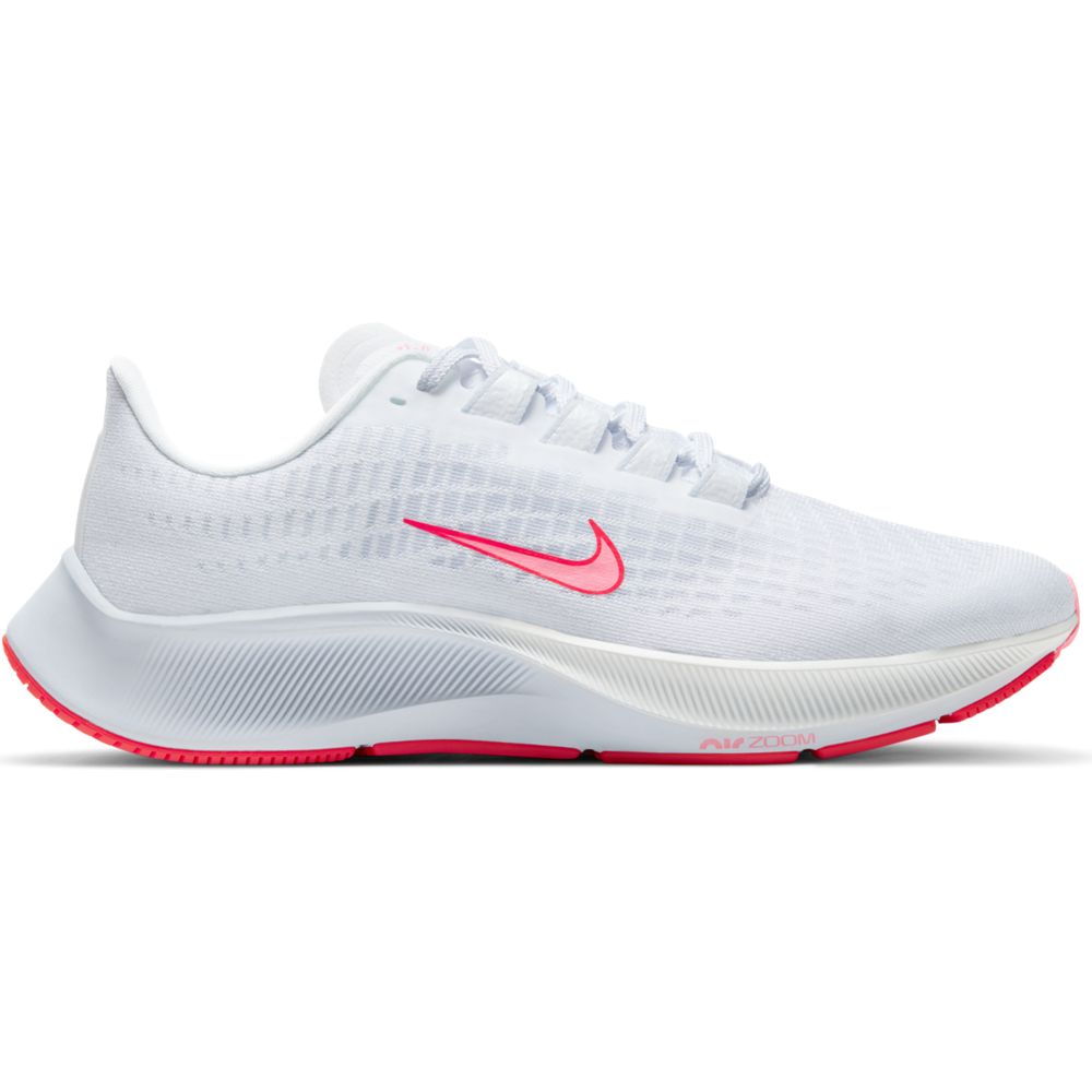 Nike Women's Air Zoom Pegasus 37 VT Running Shoes White / Sunset Pulse - achilles heel