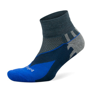 Balega Enduro V-Tech Running Socks Charcoal / Cobalt - achilles heel