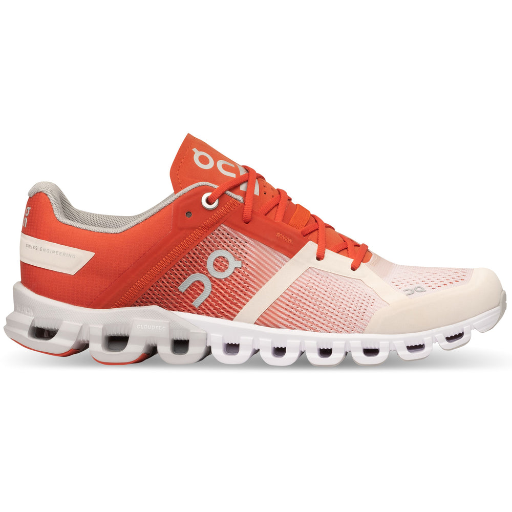 On Women's Cloudflow Running Shoes Rust / Rose - achilles heel