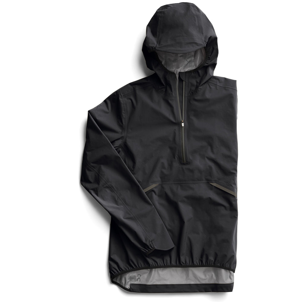 On Women's Waterproof Anorak Black - achilles heel
