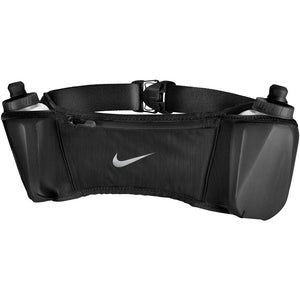 Nike Double Pocket Flask Belt 3.0 Black / Black / Silver - achilles heel
