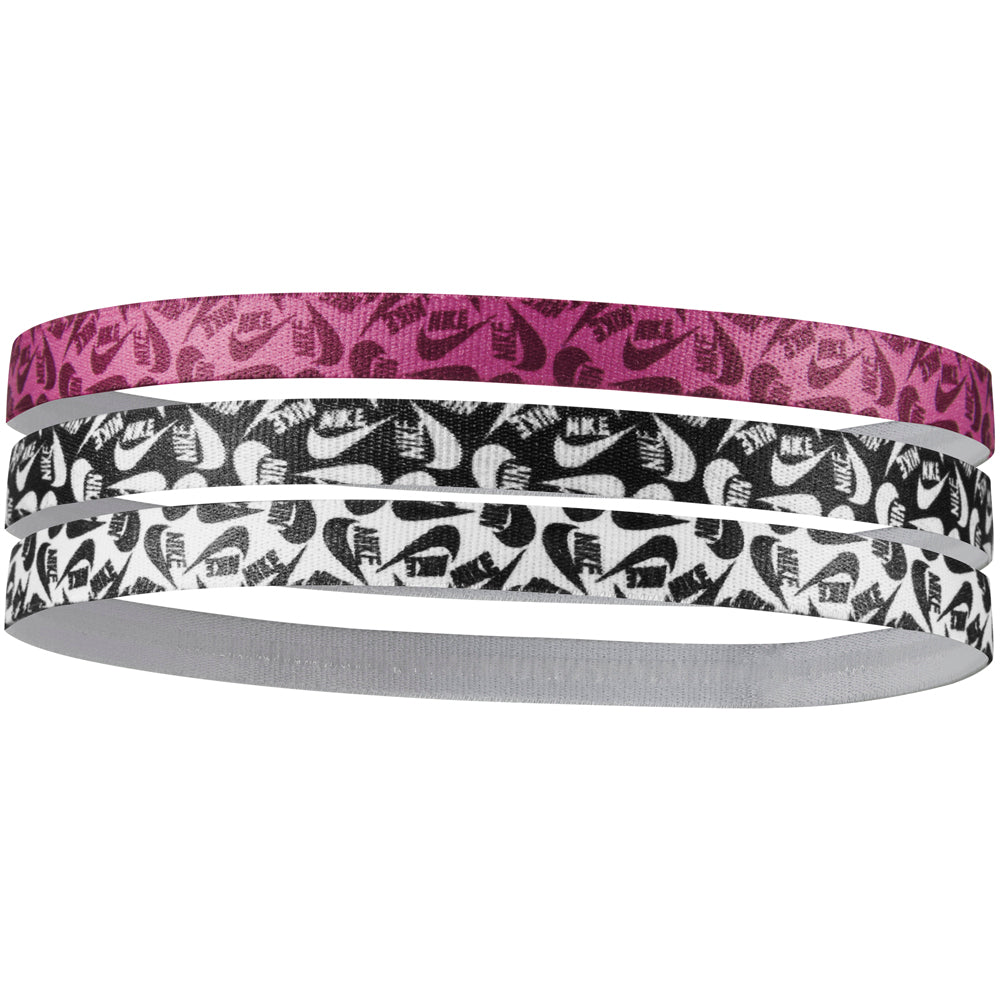 Nike Printed Headbands Black / Cosmic Fuchsia / White - achilles heel