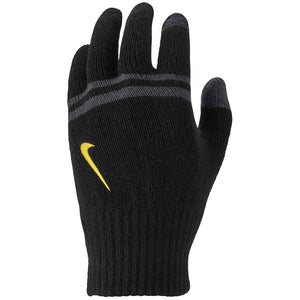 Nike Kids Stripe Knitted Tech Grip Gloves Black - achilles heel