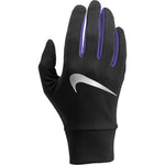 Nike Women's  Lightweight Tech Run Gloves Black / Purple - achilles heel