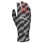 Nike Men's Lightweight Tech Running Gloves Black / Bright Crimson / Silver - achilles heel