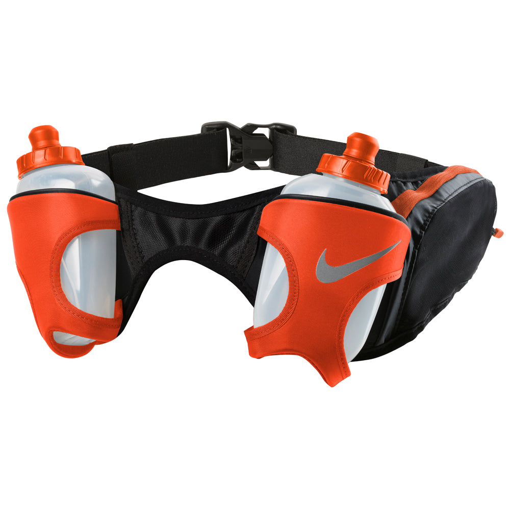 Nike Double Flask Belt 20oz Black / Total Crimson / Silver - achilles heel