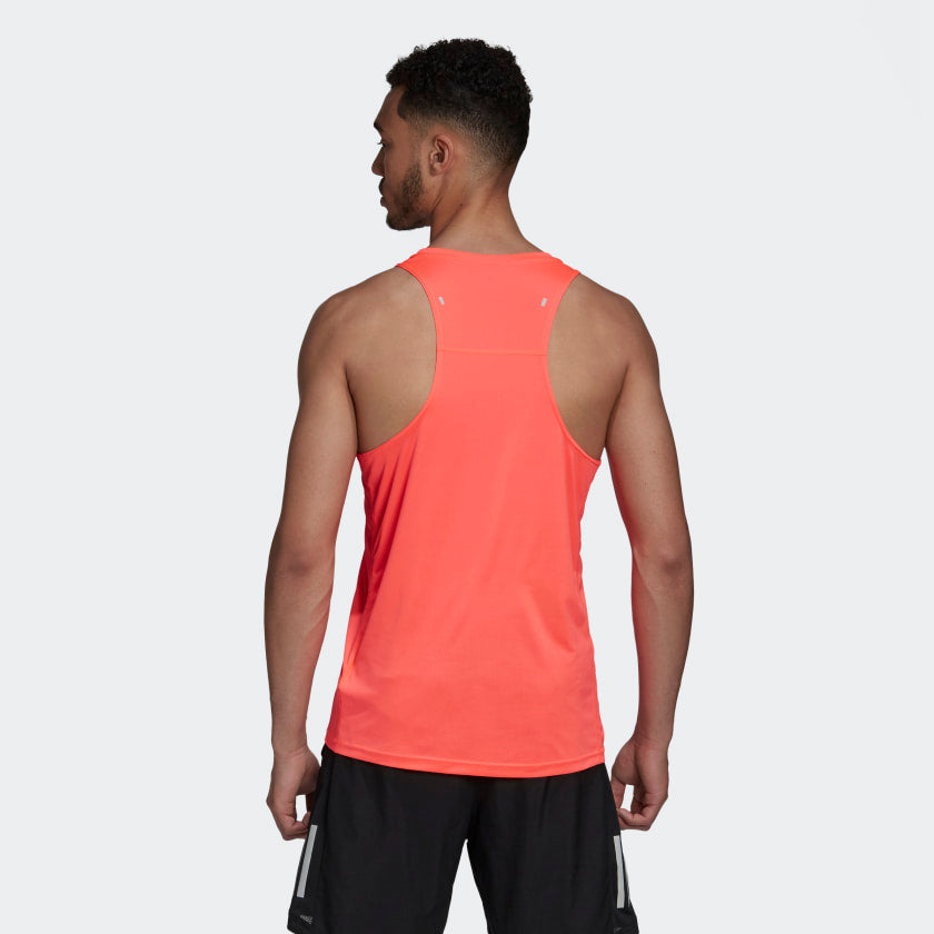 Adidas Men's Own The Run Singlet Signal Pink - achilles heel