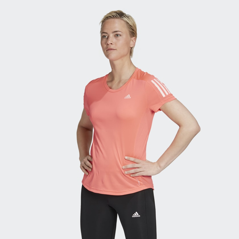 Adidas Women's Own The Run Tee Signal Pink - achilles heel