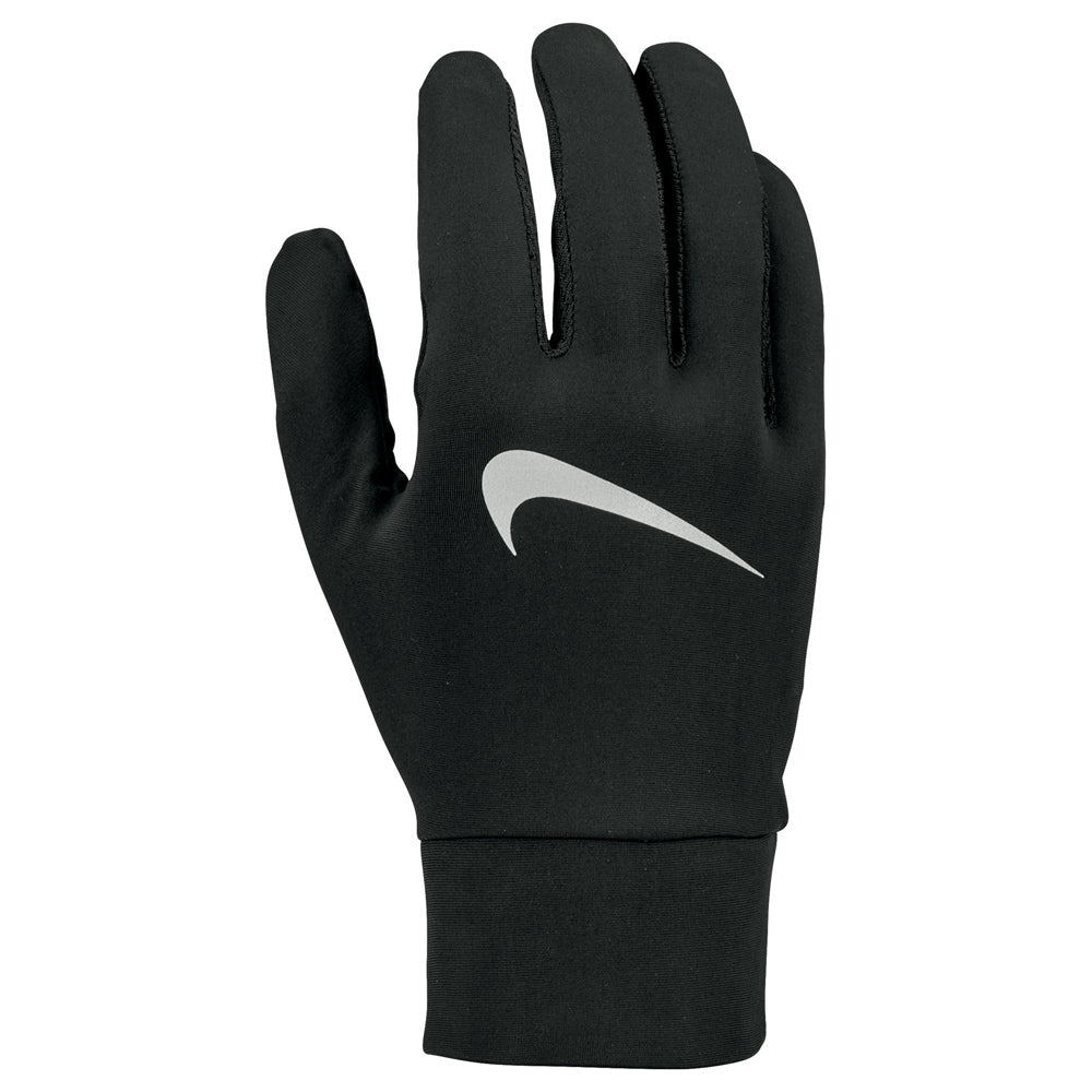 Nike Men's Lightweight Tech Running Gloves Black / Black / Silver - achilles heel