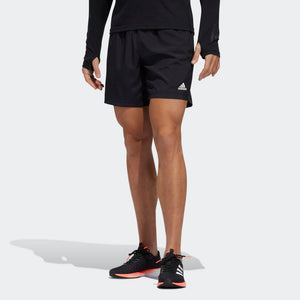 Adidas Men's Run It PB 7 Inch Shorts Black - achilles heel