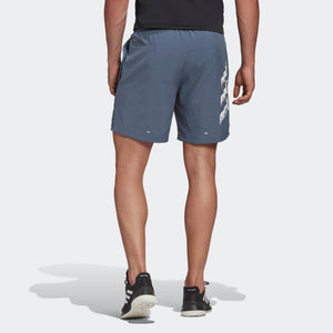 Adidas Men's Run It PB 5 Inch Shorts Legacy Blue - achilles heel