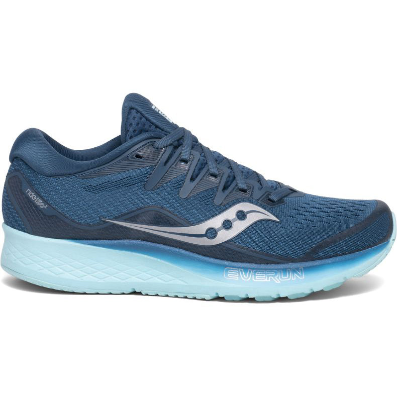 Saucony Women's Ride ISO 2 Running Shoes Blue / Aqua - achilles heel