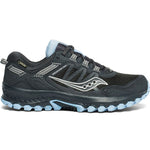 Saucony Women's Excursion 13 Gore-Tex Trail Running Shoes Black / Blue - achilles heel