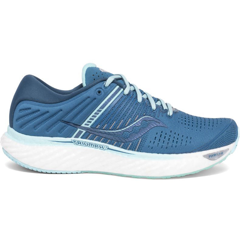 Saucony Women's Triumph 17 Running Shoes Blue / Aqua + Free Backpack