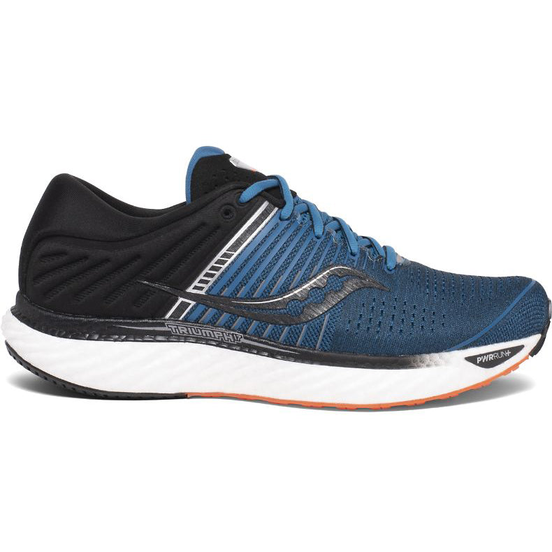 Saucony Men's Triumph 17 Running Shoes Blue / Black + Free Backpack