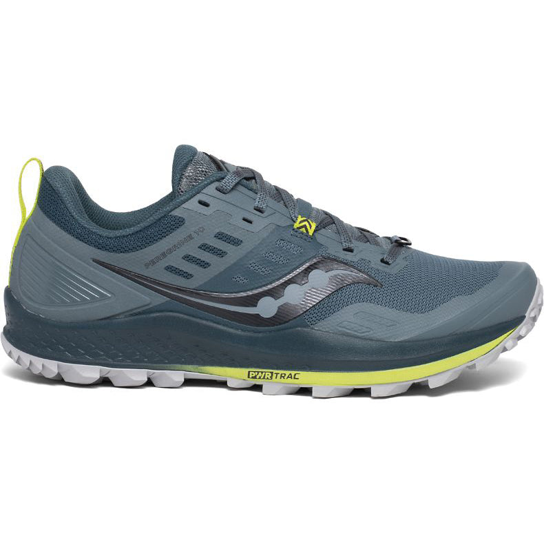 Saucony Men's Peregrine 10 Trail Running Shoes Steel - achilles heel