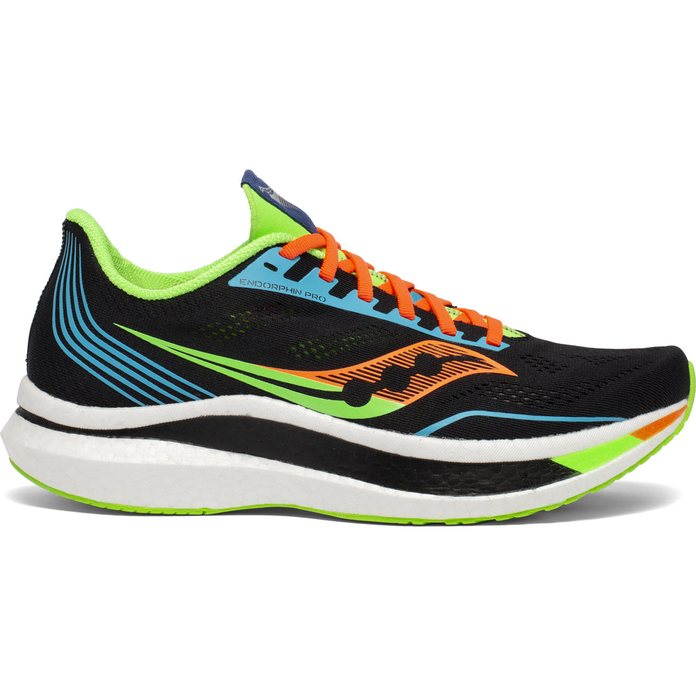 Saucony Men's Endorphin Pro Running Shoes Future / Black - achilles heel