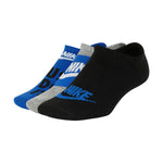 Nike Kids Everyday Lightweight No-Show 3 Pack Socks Royal / Black / Grey - achilles heel