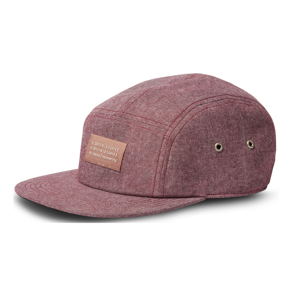 On 5 Panel Cap Mulberry - achilles heel