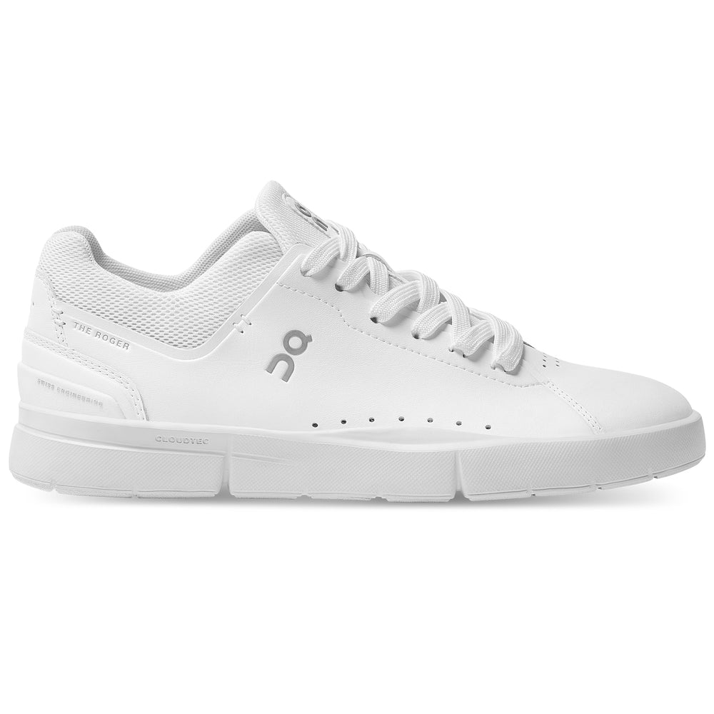 On Women's THE ROGER Advantage All White - achilles heel