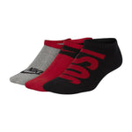 Nike Kids Performance Cushion No-Show Socks 3 Pack Red / Grey / Black - achilles heel