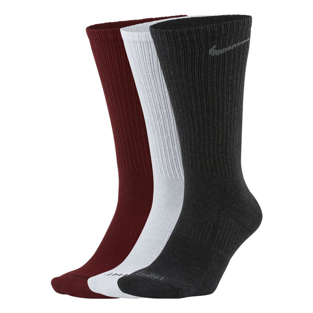 Nike Everyday Plus Cushion Crew Socks 3 Pack Red / White / Grey