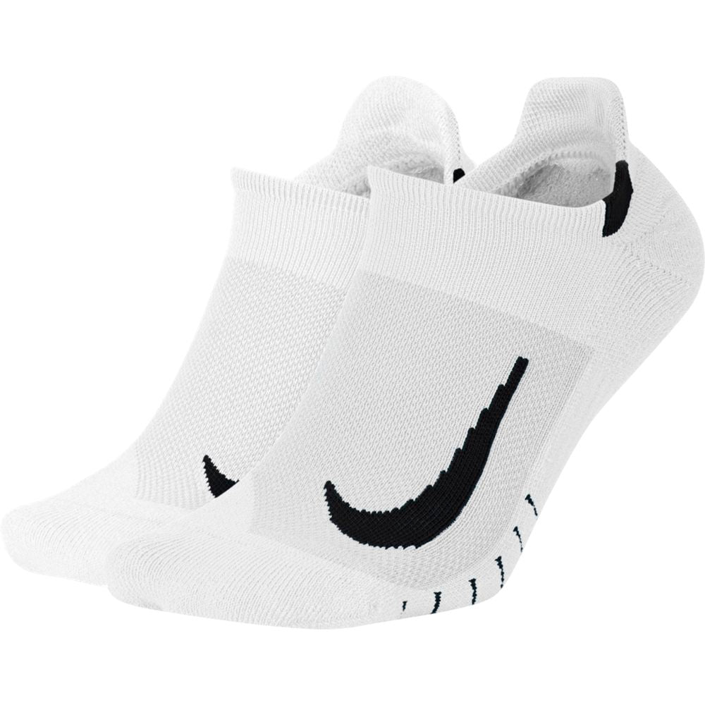 Nike Multiplier No-Show Running Socks 2 Pack White / Black - achilles heel